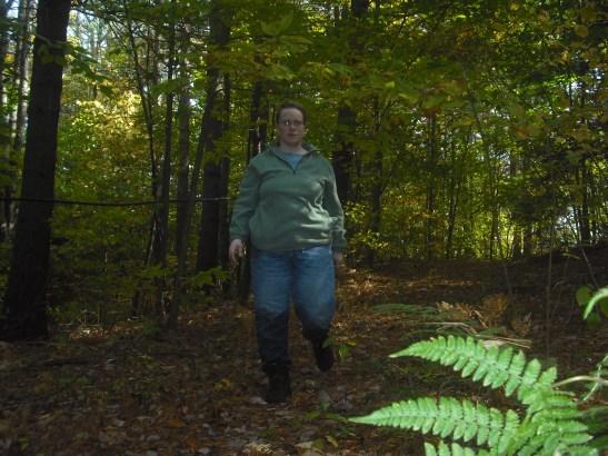 Cedar walking in the woods