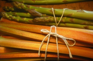 Rhubarb and asparagus