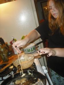 Teen cooking