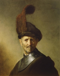 Amazing faces… this is a van Rijn painting of an old military man. The feather just gets me.
