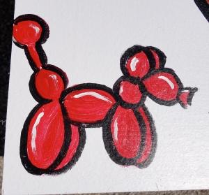 painted balloon dog