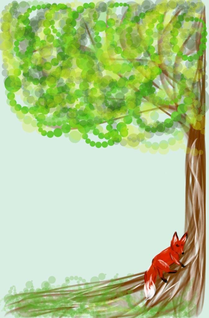 Lazy red fox