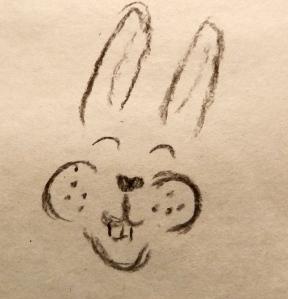 Bunny face sketch
