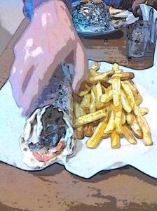 Shawarma pita wrap
