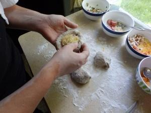 making kolache
