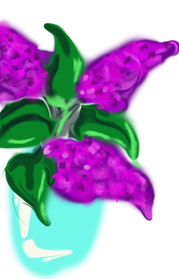 Lilac impressionist style