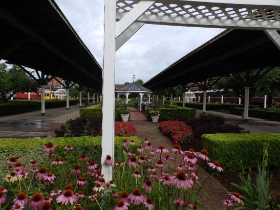 Formal gardens at the Chattanooga Choo-choo