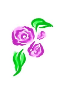 Pink rose vector art