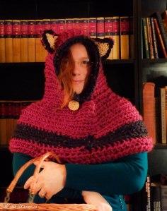 Fox cowl crocheted