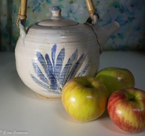 Still Life: Apples and Teapot