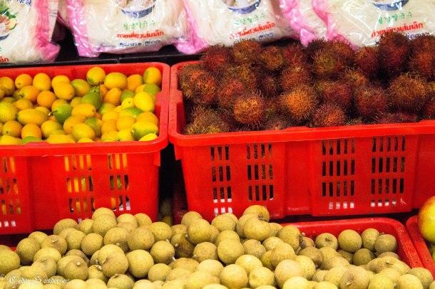 kumquats and dragonfruit, I think