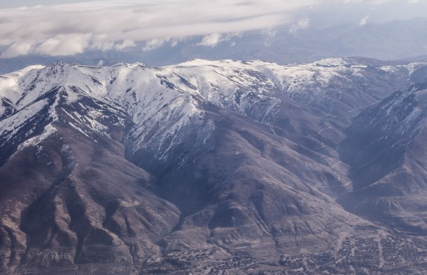 I love how rugged and snowy they look even from above.